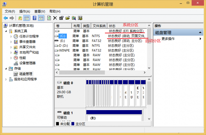 UEFI启动系统,系统分区和启动分区不是同一个分区