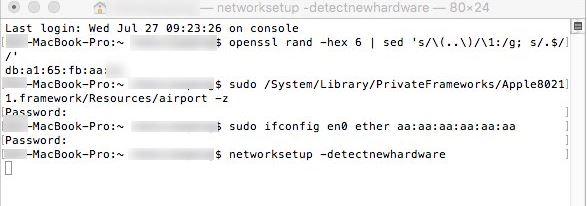 命令:networksetup -detectnewhardware