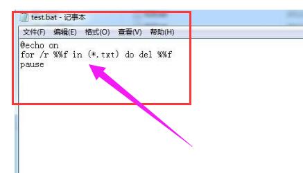 输入批量删除txt文件的命令