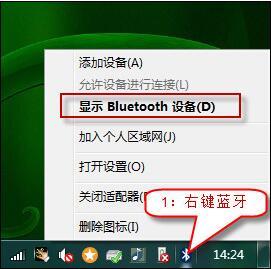 显示 Bluetooth 设备