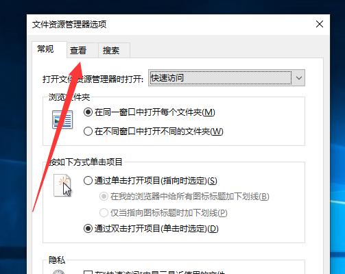 文件资源管理器选项 - 查看