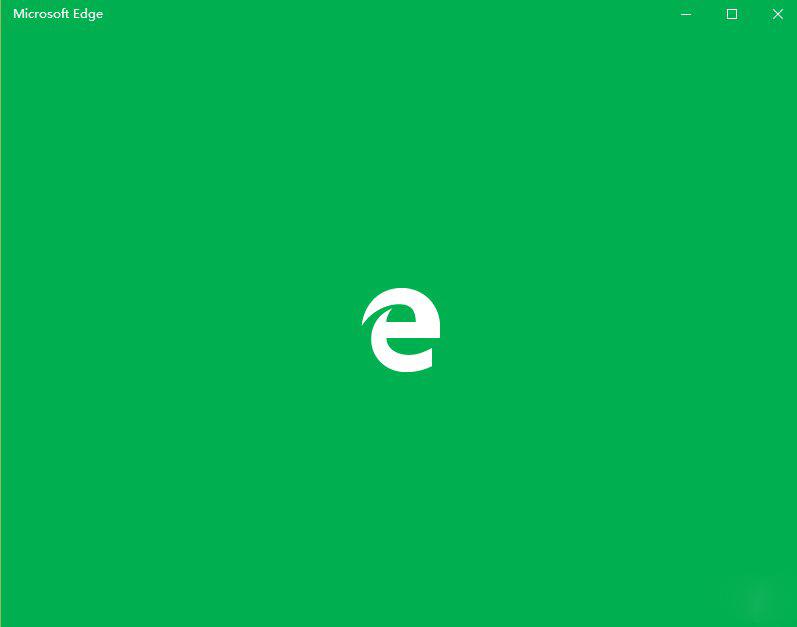 绿色启动页的Edge