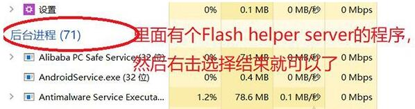 结束Flash Helper Service进程