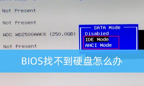 BIOS找不到硬盘怎么办